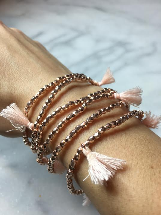 set of stretch bracelets