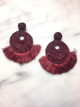 Merlot beaded earrings
