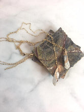 Goldie Druzy Stone on Chain Necklace