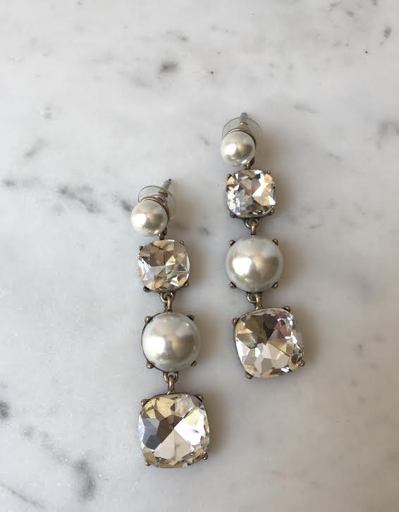Gemma Pearl and Crystal Statement Earring