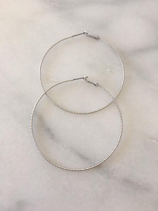hoop earrings  silver