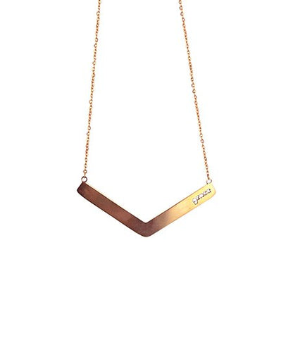 Rose Gold 'Grace' Angle Bar Necklace
