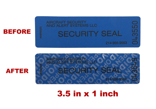 Aircraft Security Non-Residue Tamper Evident Tape (TED)