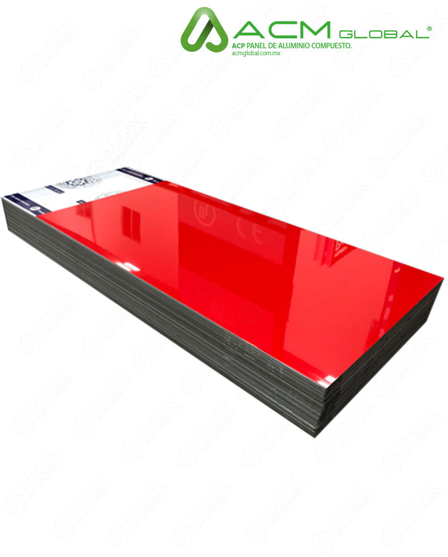 ALB634RED HOJA PANEL ALUMINIO GLOSSY RED (ROJO BRILLANTE) 4MM