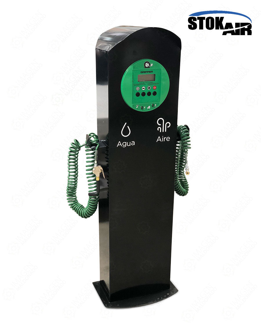 XX07 STOK AIR DISPENSARIO AIRE Y AGUA CABEZAL GRIPPER STOK AIR VERDE PEMEX