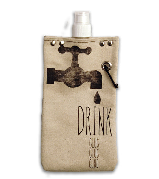 Drink, glug, glug, glug - Canvas Canteen 500ml