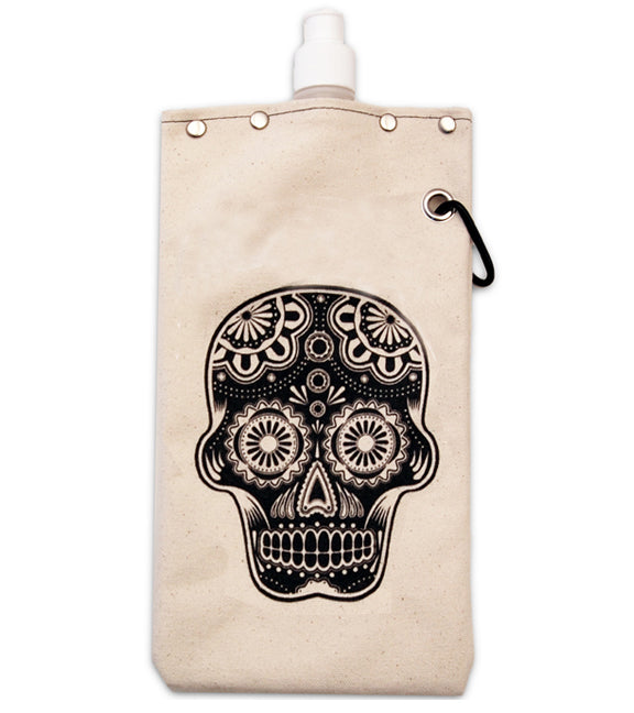 Sugar Skull - Canvas Canteen 750ml
