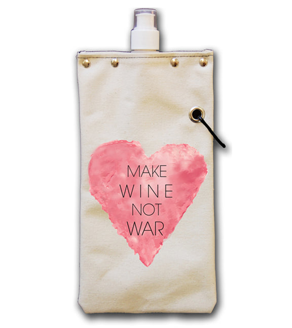 Make Wine Not War - Canvas Canteen 750ml