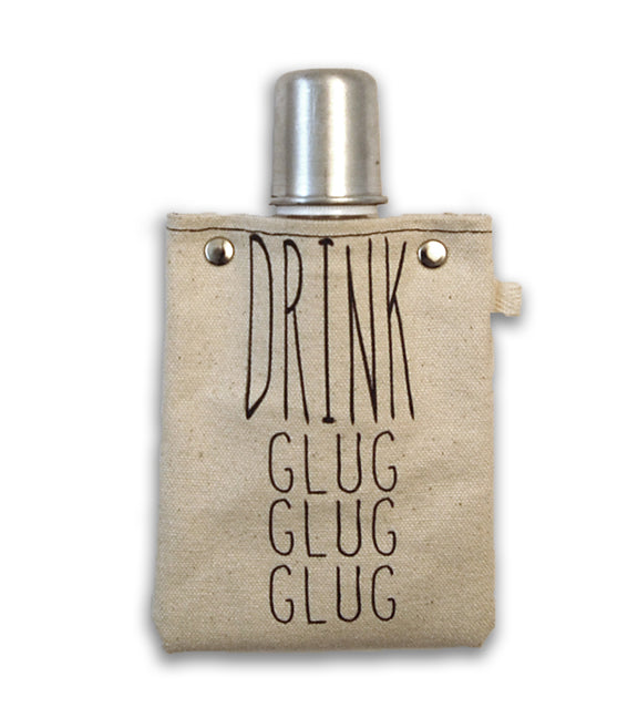 Drink, glug, glug - Canvas Flask 120ml