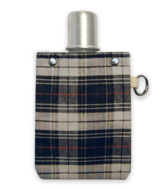 Red Black Plaid  - Canvas Flask 120ml