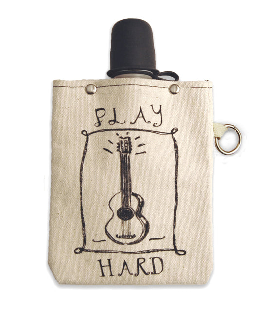 Play Hard Music - Canvas Flask 240ml
