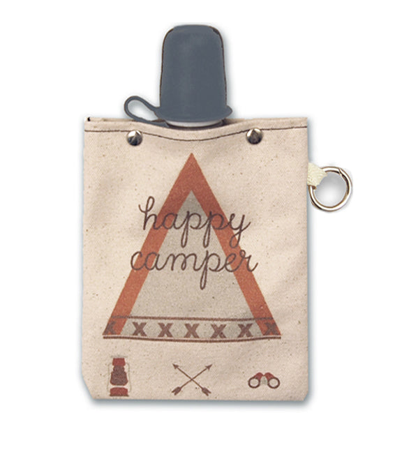 Happy Camper - Canvas Flask 240ml