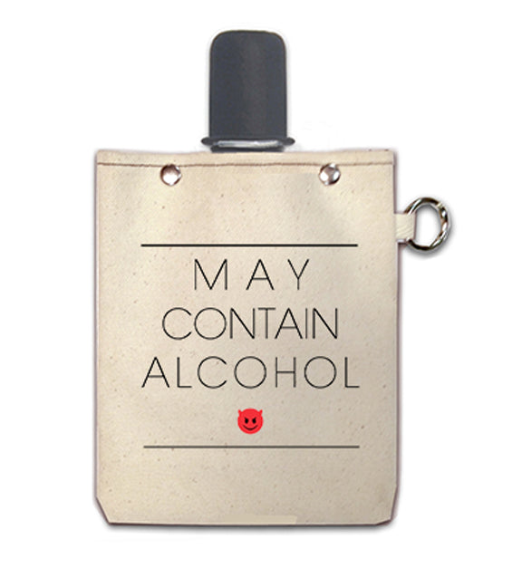 May Contain - Canvas Flask 240ml