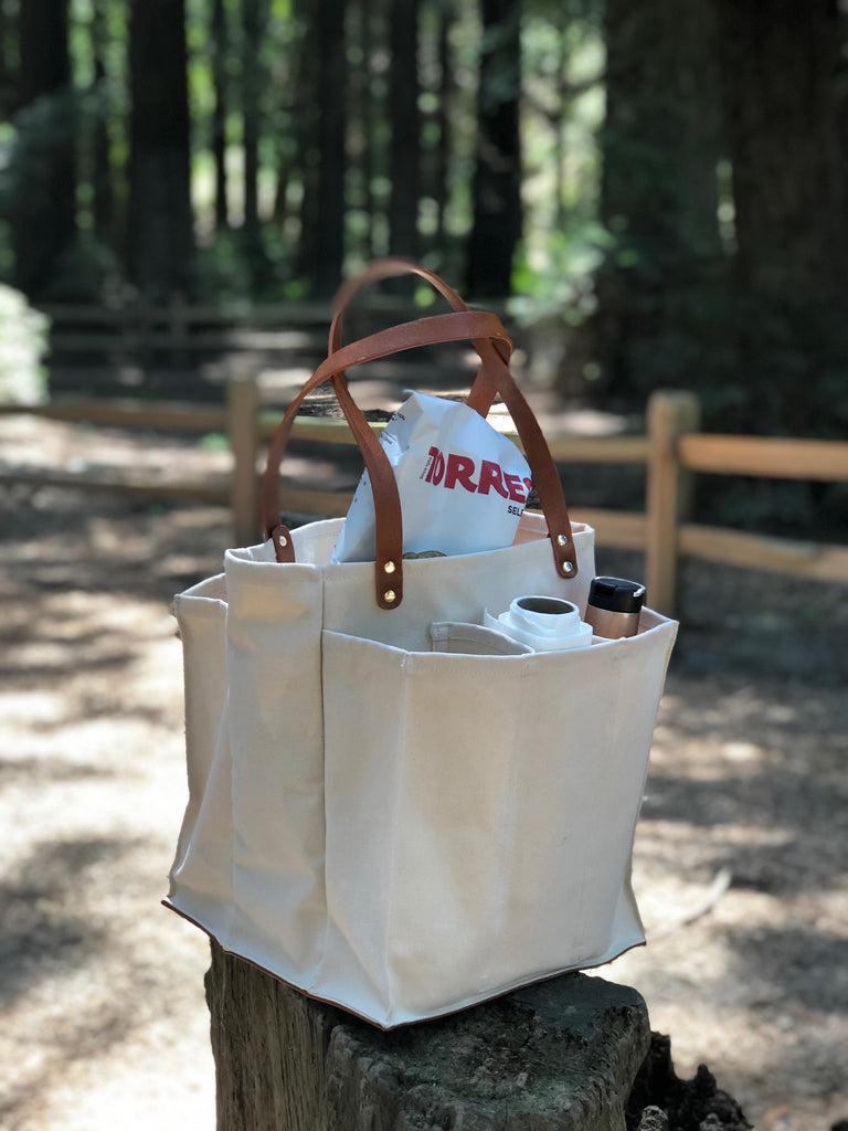A picnic tote as well as a Market Tote