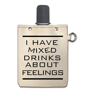 Mixed Feelings - Canvas Flask 240ml
