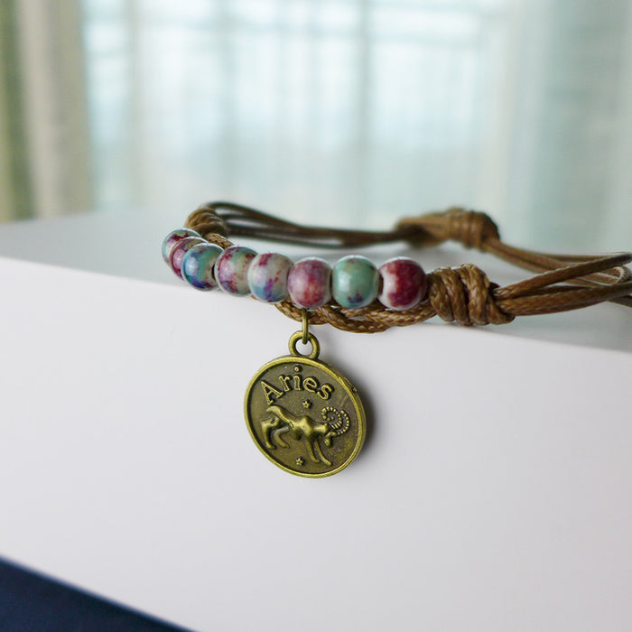Horoscope Beads Bracelet-Aries (March 21-April 19)