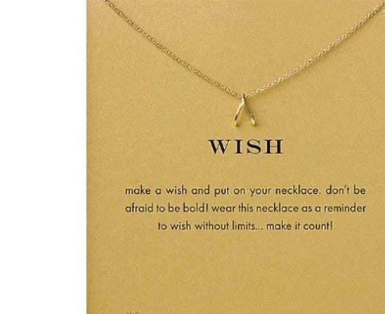 Make A Wish Charm Necklace With Message Card
