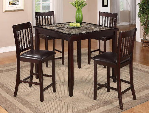 Cascade 5 Piece Pub Height Dining Set
