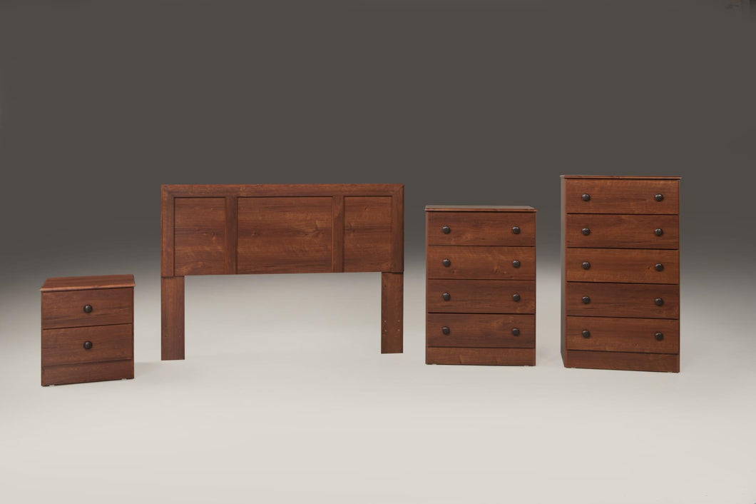 Cherry Finish Promotional Bedroom Set