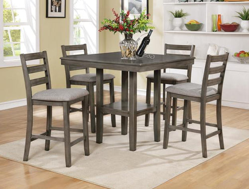 Tahoe 5 Piece Gray Pub Height Dining Set