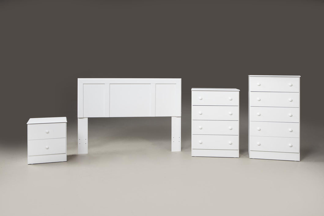 White Finish Promotional Bedroom Set