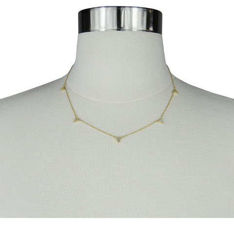 5 Pave Triangle Necklace by Jules Smith