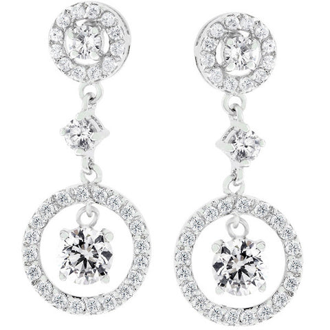 Cubic Zirconia Dew Drop Earrings