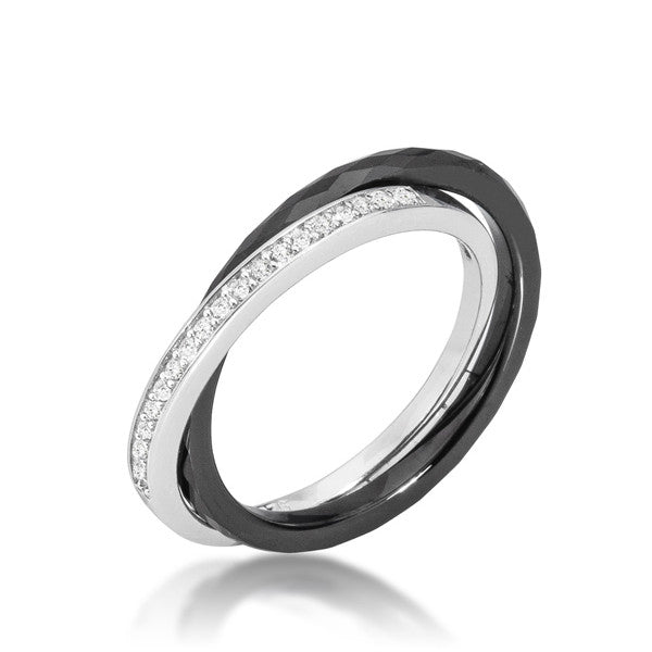 Double-Band Ceramic Eternity Ring