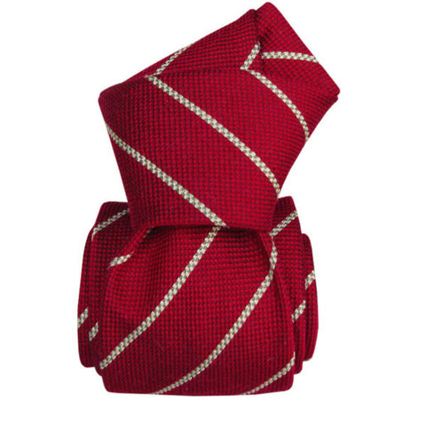 Handcrafted Silk Stripe Mens Tie by TuChic