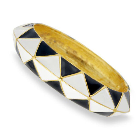 Black and White Bangle by Kenneth Jay Lane