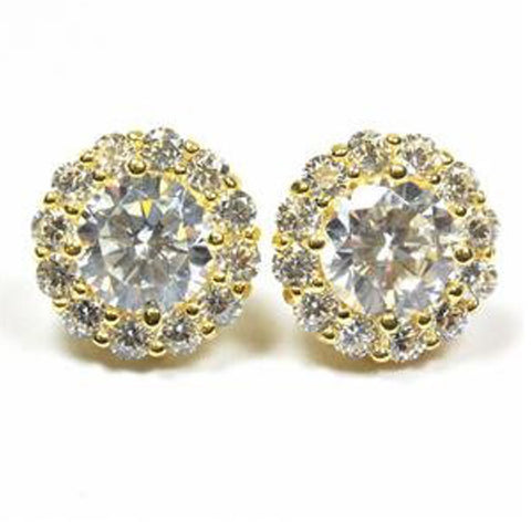 Diamond Halo Studs by Savvy Cie Jewels