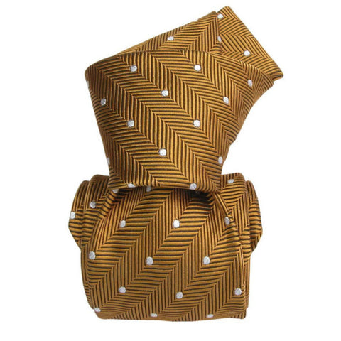 Handcrafted Silk Tie in Mustard by TuChic