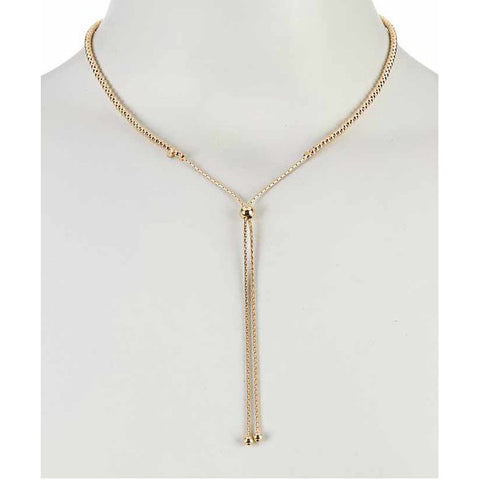 Gold Italian Adjustable Necklace by Savvy Cie