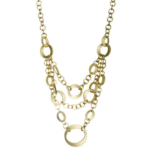 Multi Chain Layered Bib Necklace by Rivka Friedman