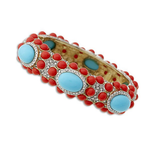 Coral And Turquoise Bracelet by Kenneth Jay Lane