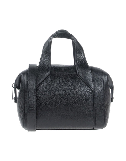 Mini Black Leather Satchel by Just Cavalli