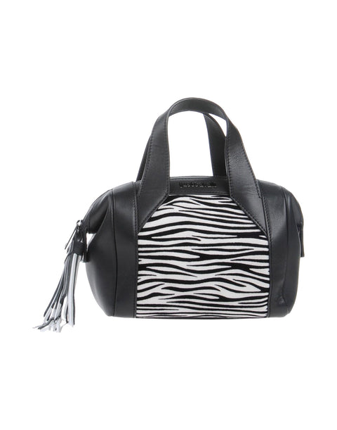Mini Zebra Leather Satchel by Just Cavalli