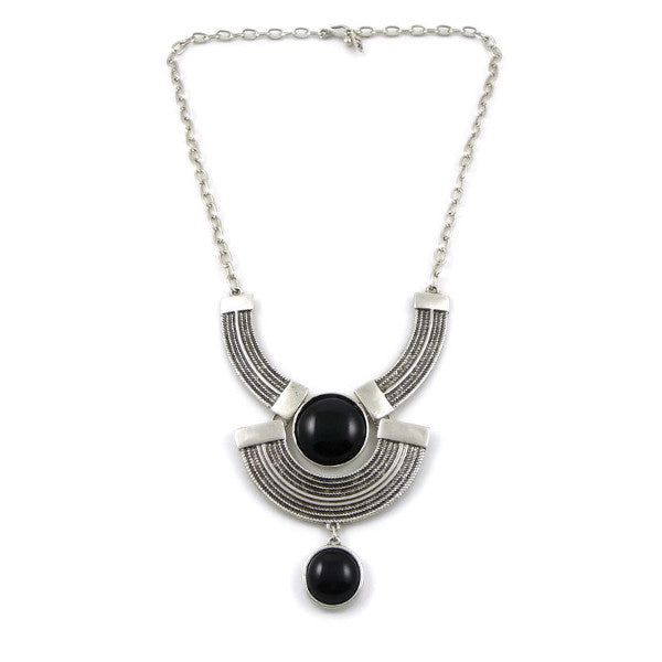 Black Onyx Geo Necklace by Isabella Rae