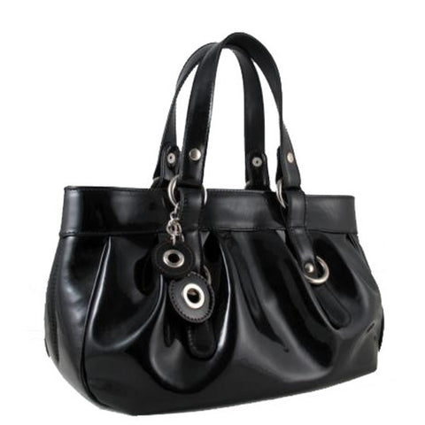 Black Leather Shoulder Bag by Carbotti