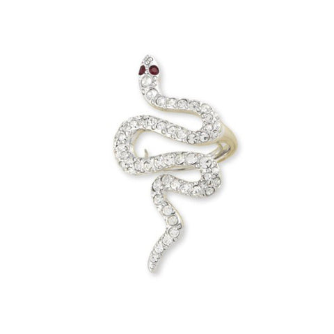 Crystal Snake Ring by Kenneth Jay Lane
