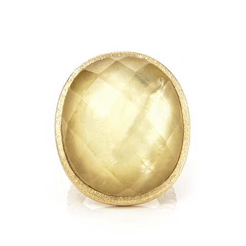 Lemon Chiffon Doublet Ring by Rivka Friedman