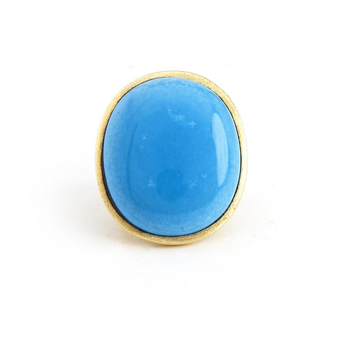 Magnesite Oval Split Shank Ring by Rivka Friedman
