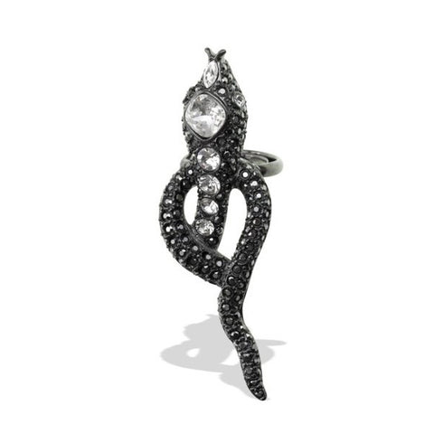 Hematite Snake Ring by Kenneth Jay Lane