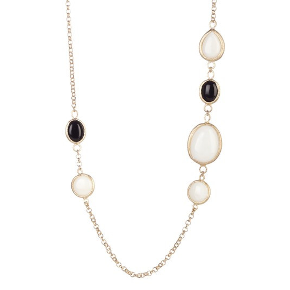 Black & White Gem Necklace by Rivka Friedman