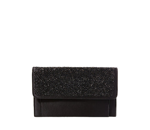 Mara Clutch in Black by Betsey Johnson