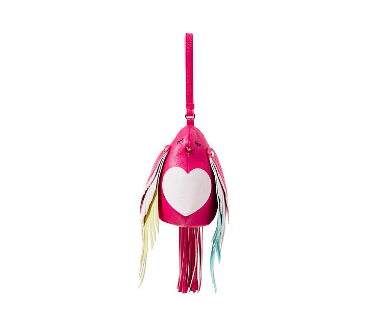 Kitsch Bird is the Word Wristlet by Betsey Johnson