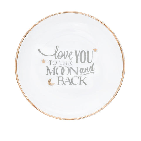"""Love you to the the moon and back"" Trinket Tray"