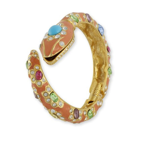 Coral Snake Cuff by Kenneth Jay Lane