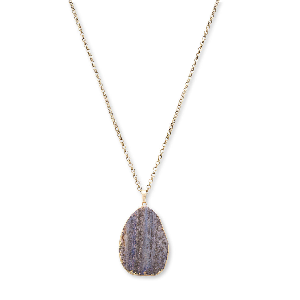 Natural stone pendant necklace by steve madden esmias collections natural stone pendant necklace by steve madden aloadofball Images