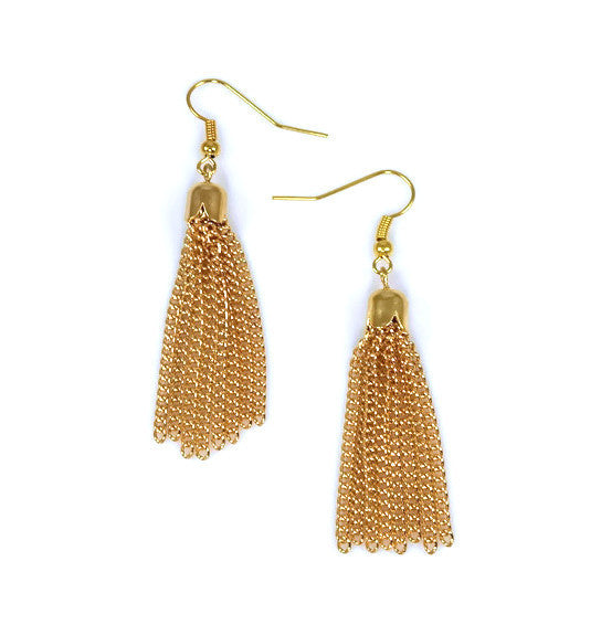 Lover's Tassel Earrings in Gold by Isabella Rae